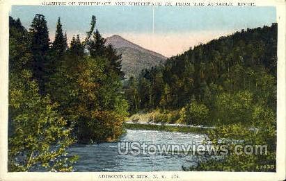 Ausable River - Adirondack Mts, New York NY Postcard