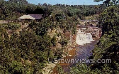 The Ausable Chasm - New York NY Postcard