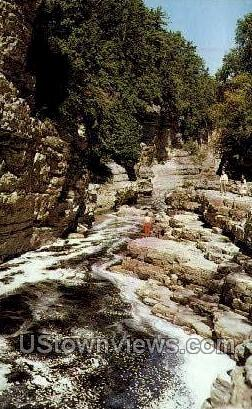 Pulpit Rock - Ausable Chasm, New York NY Postcard
