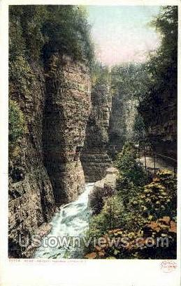 Point Lookout - Ausable Chasm, New York NY Postcard