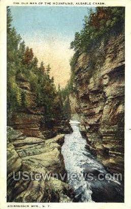 Ausable Chasm - Adirondack Mts, New York NY Postcard