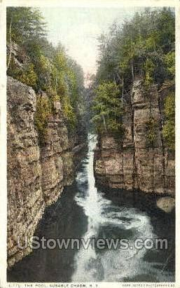 The Pools - Ausable Chasm, New York NY Postcard