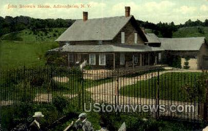 John Brown's House - Adirondack Mts, New York NY Postcard