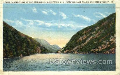 Lower Cascade Lake - Adirondack Mts, New York NY Postcard