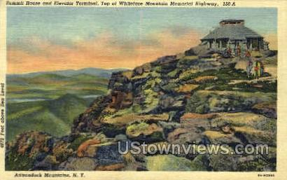Whiteface Mountain Memorial Highway - Adirondack Mts, New York NY Postcard