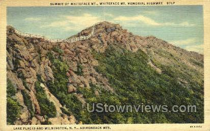 Summit of Whiteface Mt. - Adirondack Mts, New York NY Postcard