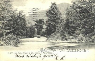 Au Sable River & Mt. Porter - Adirondacks, New York NY Postcard