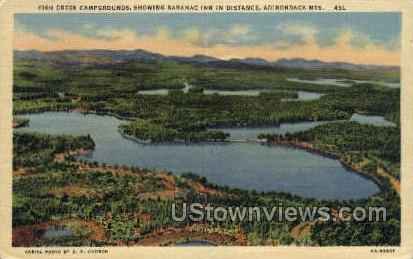 Fish Creek Campgrounds - Adirondack Mts, New York NY Postcard