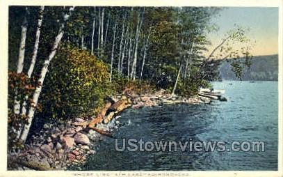 Shore Line, 4th Lake - Adirondacks, New York NY Postcard