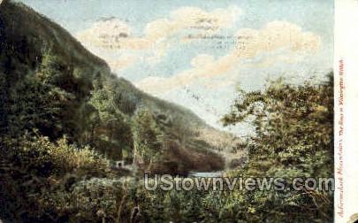 River in Wilmington Notch - Adirondack Mts, New York NY Postcard