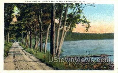 Trout Lake - Adirondacks, New York NY Postcard