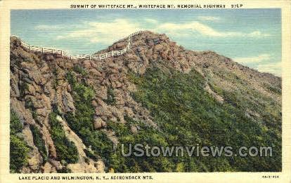 Lake Placid & Wilmington - Adirondack Mts, New York NY Postcard