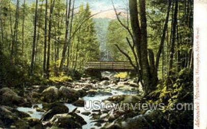Wilmington Notch Brook - Adirondack Mts, New York NY Postcard