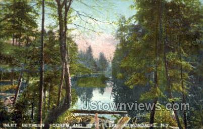 Inlet between Fourth & Fifth Lake - Adirondacks, New York NY Postcard