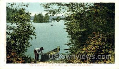 Upper St. Regis Lake - Adirondack Mts, New York NY Postcard