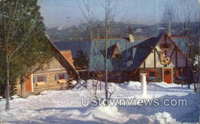Two of Santa's Workshops - Adirondack Mts, New York NY Postcard