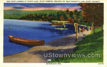 Eighth Lake - Adirondack Mts, New York NY Postcard
