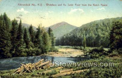Whiteface & Au Sable River - Adirondack Mts, New York NY Postcard
