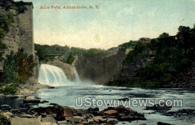 Alice Falls - Adirondacks, New York NY Postcard