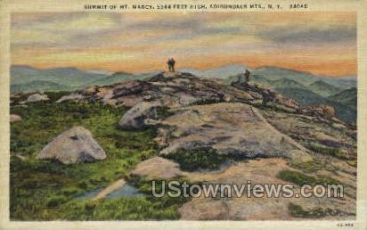 Summit of Mt. Marcy - Adirondack Mts, New York NY Postcard