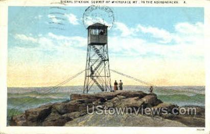 Signal Station, Summit of Whiteface Mt. - Adirondacks, New York NY Postcard