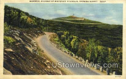 Memorial Highway up Whiteface Mt. - Adirondacks, New York NY Postcard