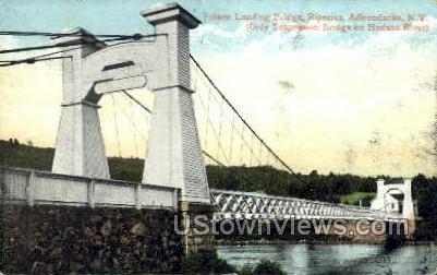 Fulson Landing Bridge - Adirondacks, New York NY Postcard