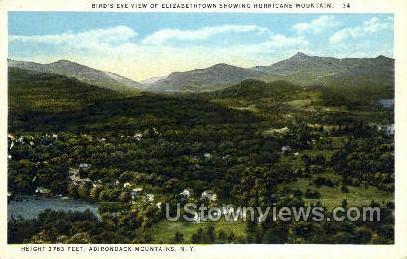 Elizabethtown, Hurricane Mountain - Adirondack Mts, New York NY Postcard