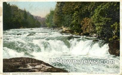 Raquette Falls - Adirondack Mts, New York NY Postcard
