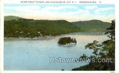 Paradox Lake - Adirondack Mts, New York NY Postcard