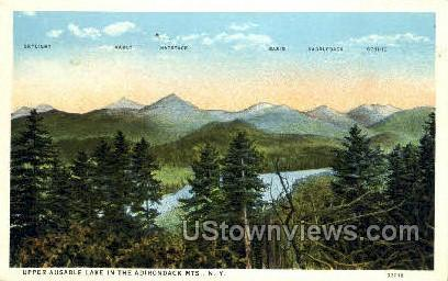 Upper Ausable Lake - Adirondack Mts, New York NY Postcard