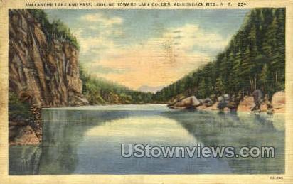 Avalanche Lake & Pass - Adirondack Mts, New York NY Postcard