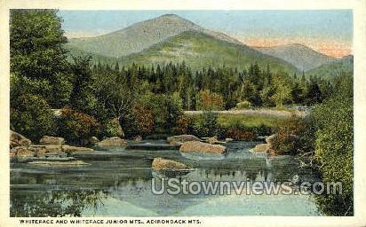 Whiteface & Whiteface Junior Mts. - Adirondack Mts, New York NY Postcard