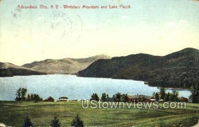 Whiteface Mountain & Lake Placid - Adirondack Mts, New York NY Postcard
