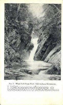 High Falls - Adirondack Mts, New York NY Postcard