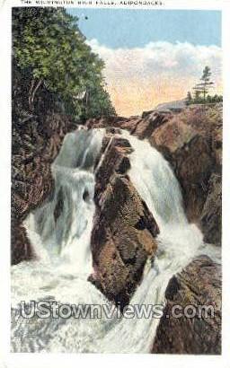The Wilmington High Falls - Adirondacks, New York NY Postcard