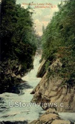 Wilmington Lower Falls - Adirondacks, New York NY Postcard