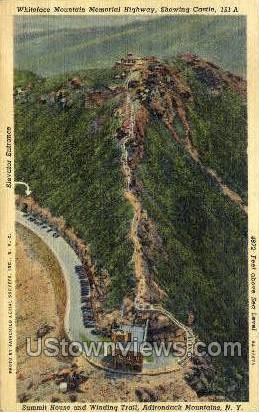 Whiteface Memorial Highway - Adirondack Mts, New York NY Postcard