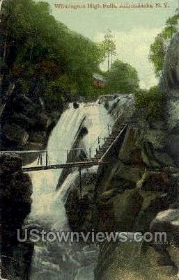 Wilmington High Falls - Adirondacks, New York NY Postcard