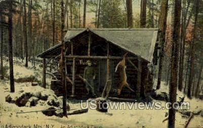 Adirondack Camp - Adirondack Mts, New York NY Postcard
