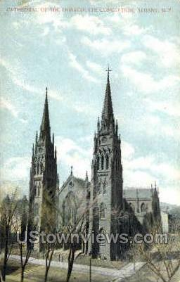 Cathedral of the Immaculate Conception - Albany, New York NY Postcard