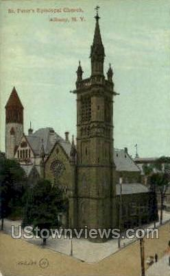 St. Peter's Episcopal Church - Albany, New York NY Postcard