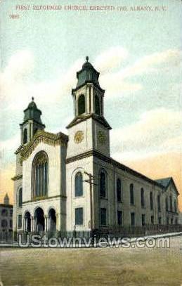 First Reformed Church - Albany, New York NY Postcard