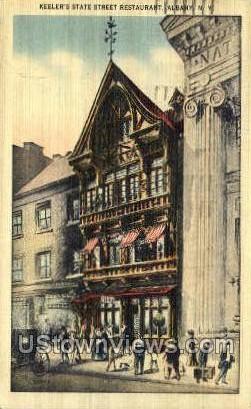 Keeler's State Street Restaurant - Albany, New York NY Postcard