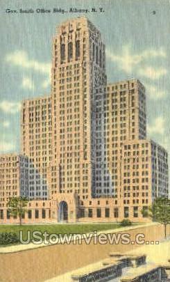 Gov. Smith Office Bldg - Albany, New York NY Postcard