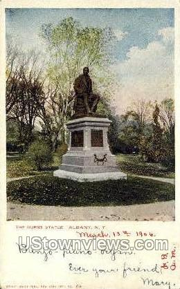 The Burns Statue - Albany, New York NY Postcard