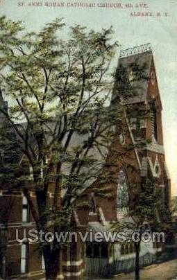 St. Ann's Roman Catholic Church - Albany, New York NY Postcard
