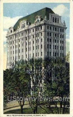 Bell Telephone Bldg - Albany, New York NY Postcard