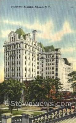 Telephone Bldg - Albany, New York NY Postcard
