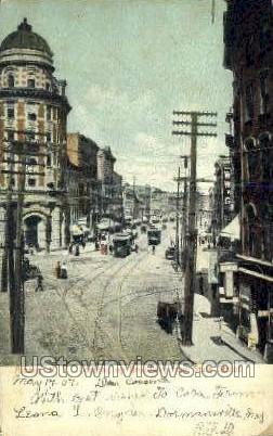 Broadway from State Street - Albany, New York NY Postcard